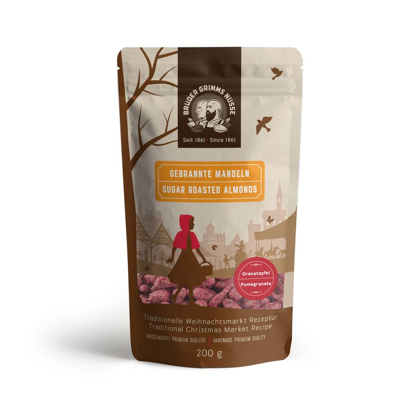 Brüder Grimms Nüsse - Sugar Roasted Almonds- Pomegranate